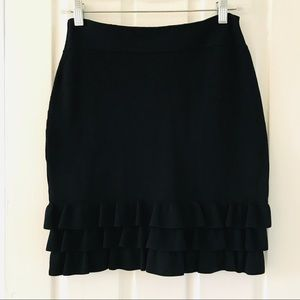 Reiss Bodycon Straight Skirt ruffle Detail XS